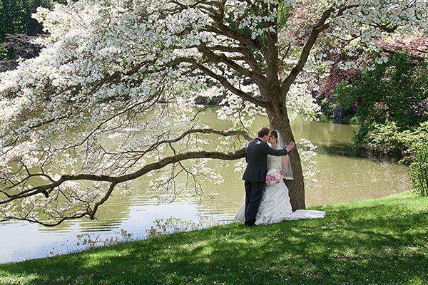boston spring wedding in the park
