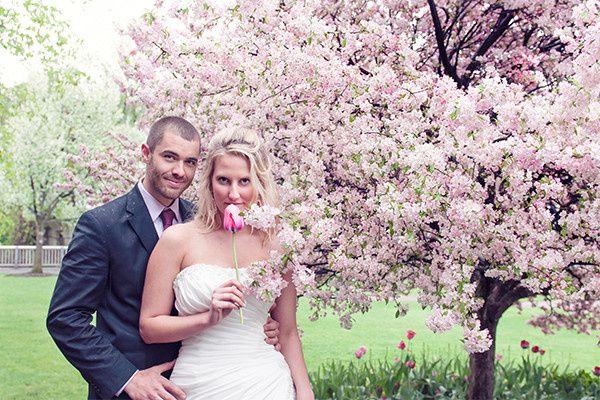 downtown laconia nh wedding portraits cherry bloss