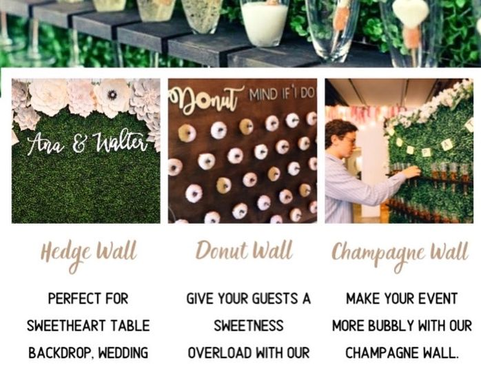 Hedgewall/champagne wall flyer