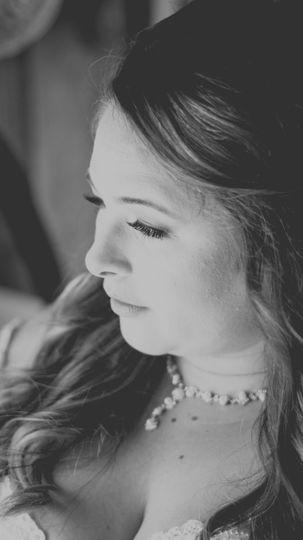 Contemplative bride