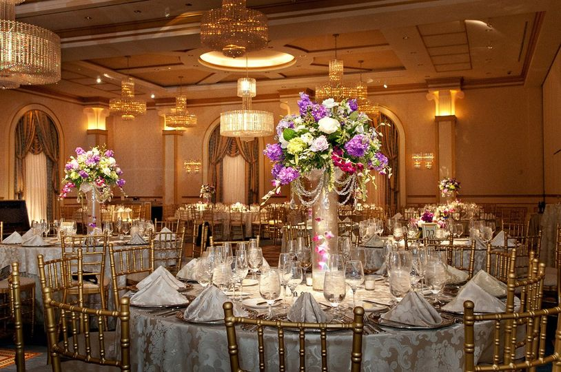 Elegant table setup with centerpiece