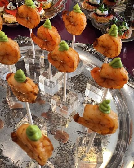Shrimp lollipop