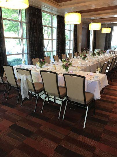 Wine room set for a bridal shower