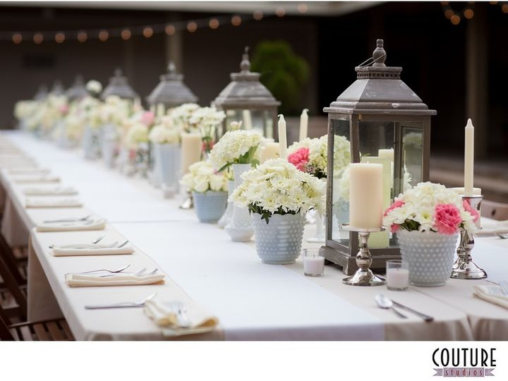 Tmx 1460571171751 Centerpiece   Long Table With Lanterns Milk Glass  Jacksonville wedding planner