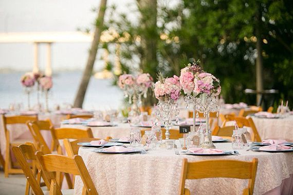 Tmx 1461168882695 Tablescape   Pink Linens With Pink Lace Overylay Jacksonville wedding planner