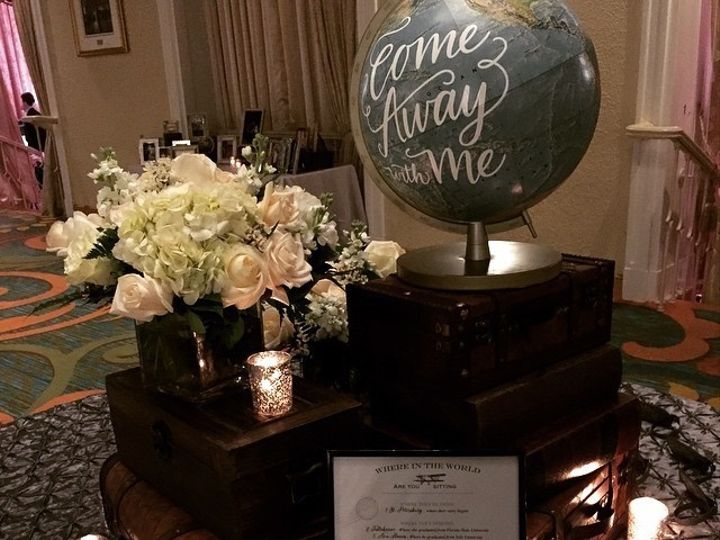 Tmx 1461168887697 Welcome Table   Travel Theme Jacksonville wedding planner