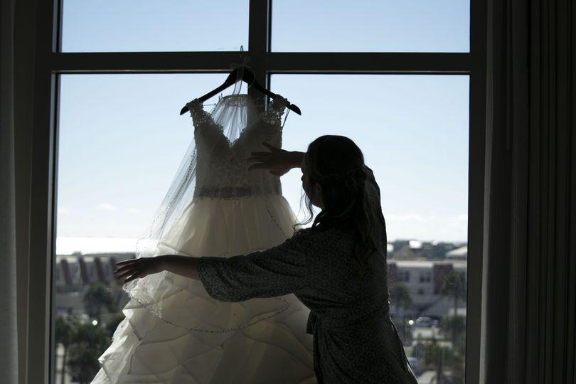 Preparing the dress