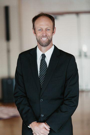 Officiant Clarke Brogger