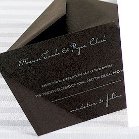 Little save-the-date cards made from Jean M papers are stylish. Choose from any Jean M paper color....