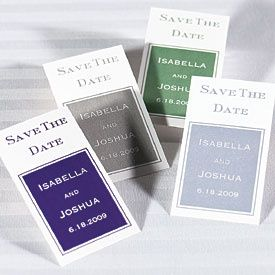 Magnet-backed save the date cards will let guests keep your wedding date in plain sight on their...