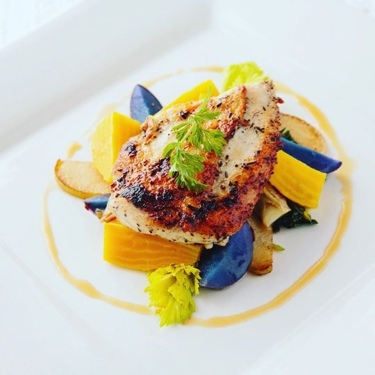 yellow and blue plated chicken 51 52941