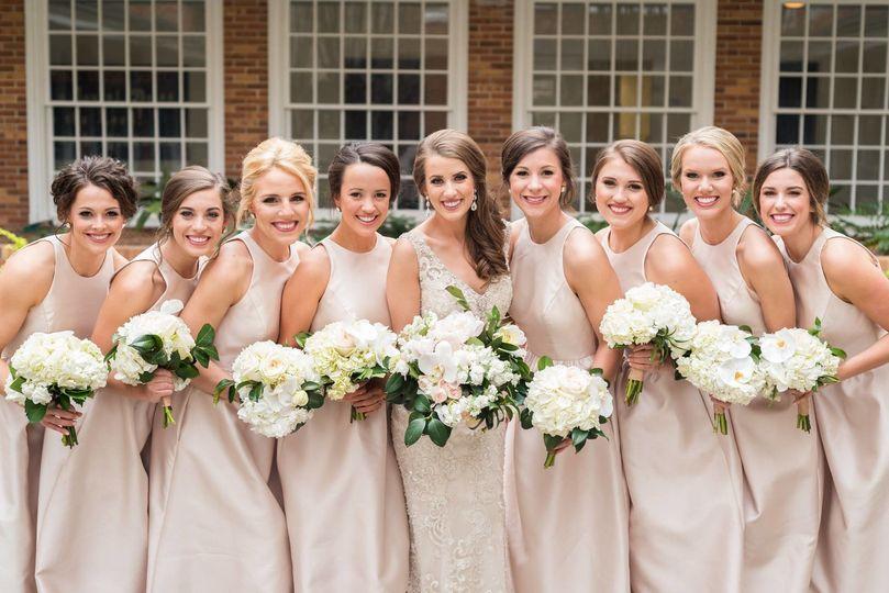 The cream wedding dresses