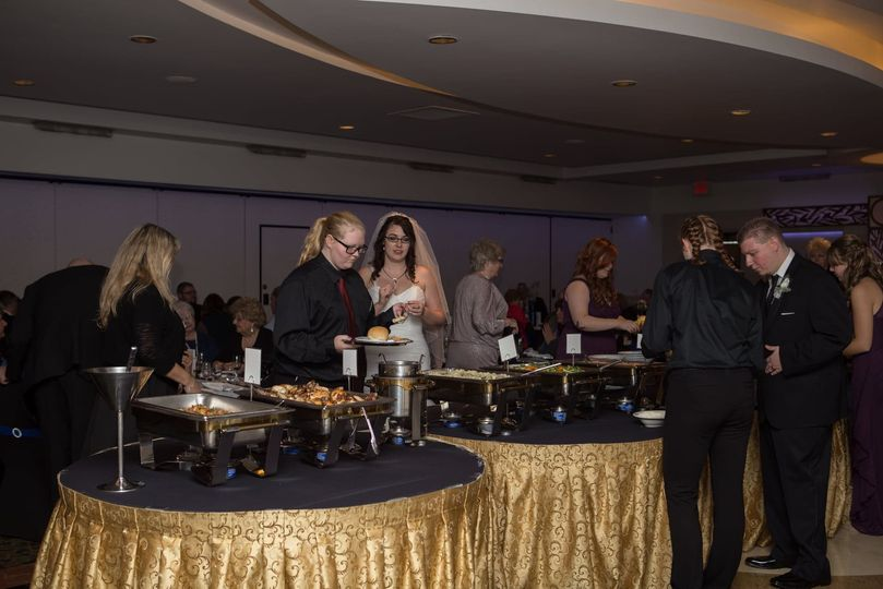 Buffet-style reception