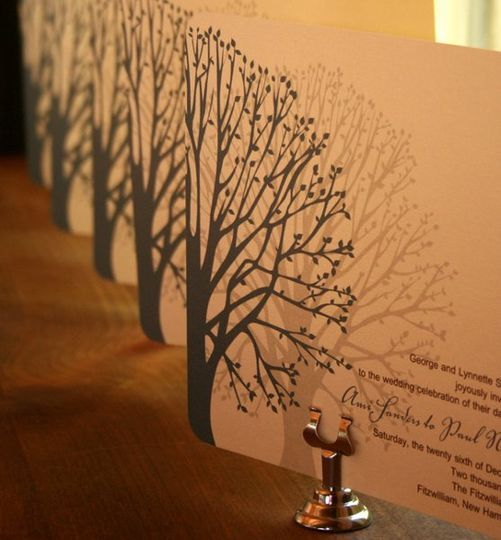 Blooming Tree Wedding Invitation
