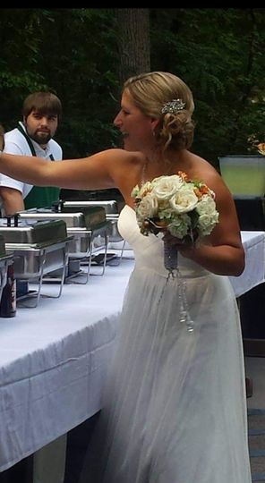 High-five from the bride