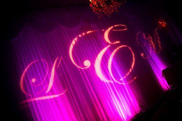 Wedding monogram light
