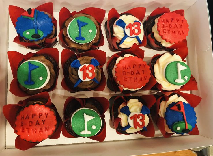 Grooms Cupcakes-Golf