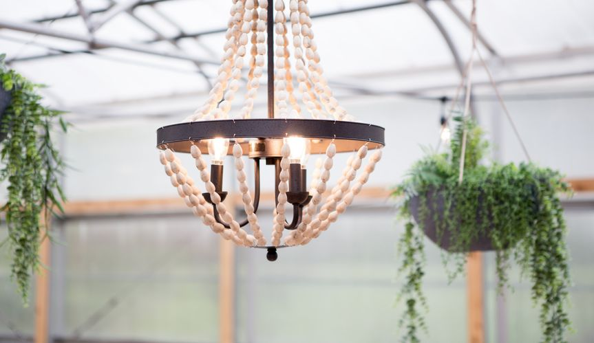 Greenhouse chandelier