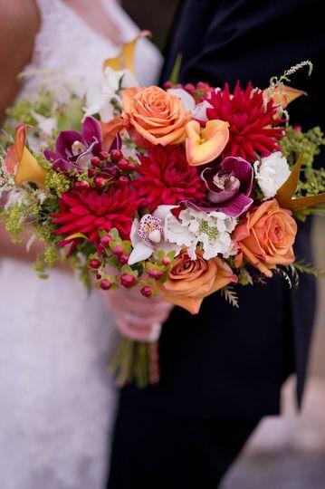 Warm themed bouquet