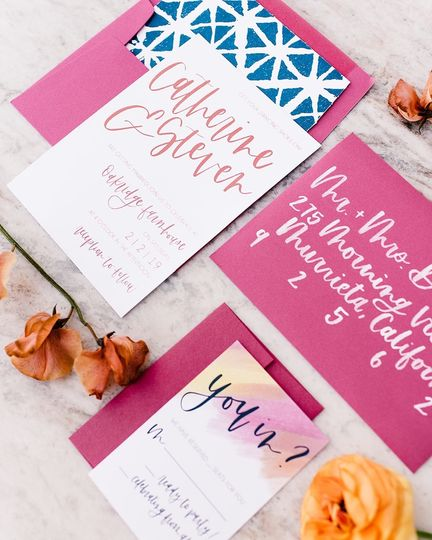 Bold + bright invitations