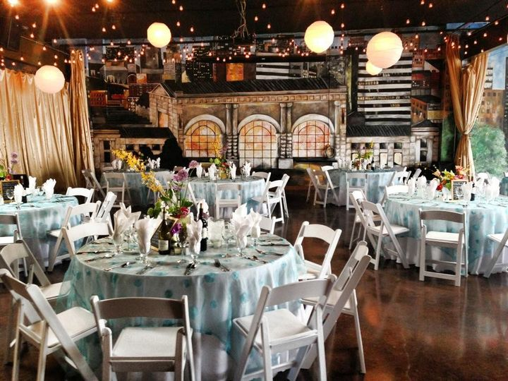 Indoor wedding reception area