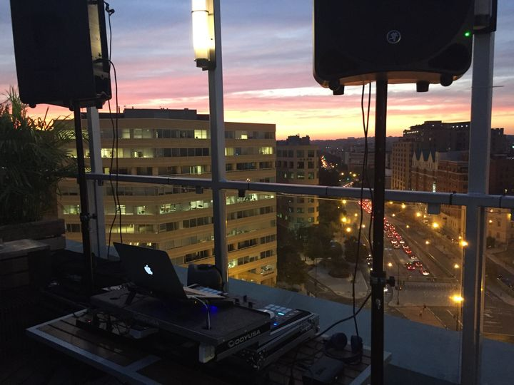 DJ booth with a view