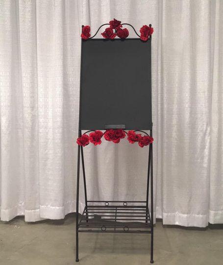 Chalkboard backdrop, Indiana Weddings, Batesville, Indiana