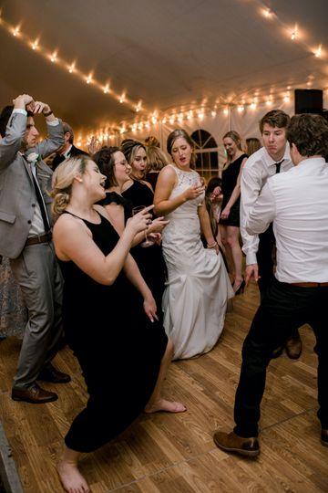 Teeming dance floor