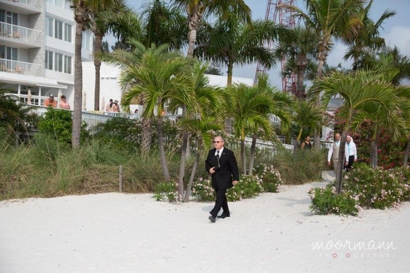 Officiant at the beach