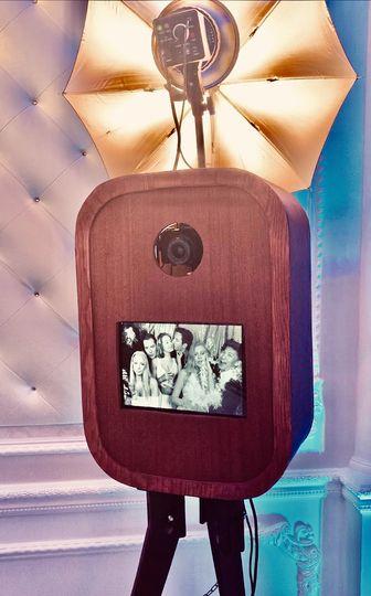 Mahogany retro wooden booth