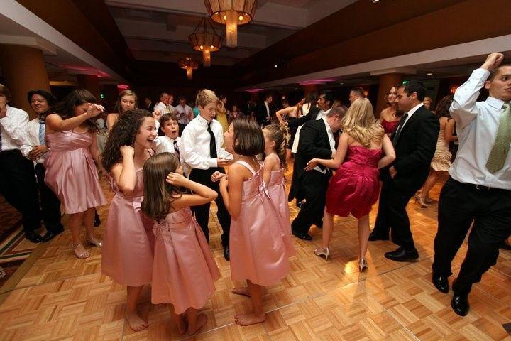 Wedding crowd on the dance floor