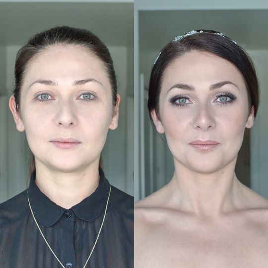Dramatic eyes | before and after makeup