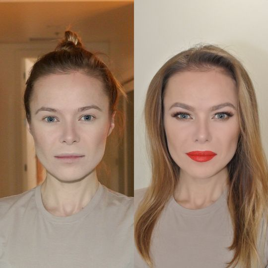 Fierce look | before and after makeup