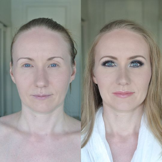 Full face makeup | before and after makeup