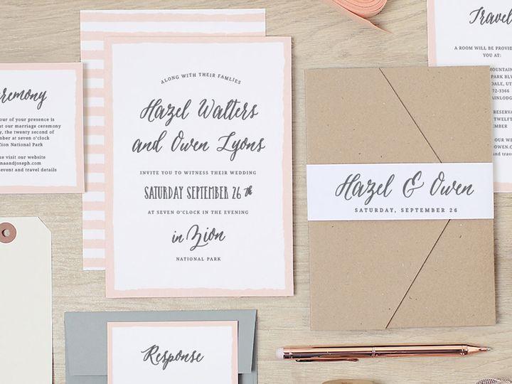 Tmx 1475774510998 Paintedborder Suite  wedding invitation