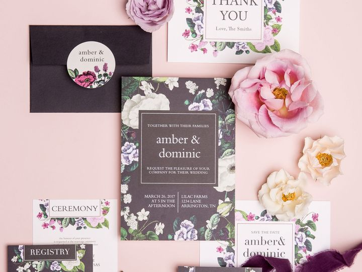 Tmx 1529433433 B8f18a11f4b39ebe 1529433430 89afb44f7de6f7d8 1529433409302 3 Vintage Botanical   wedding invitation