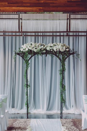 Indoor wedding arch