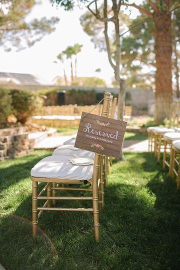 Outdoor chair setup