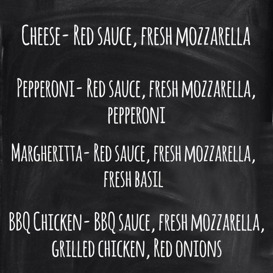 Our basic catering menu. We are always able to custimize the menu as well.