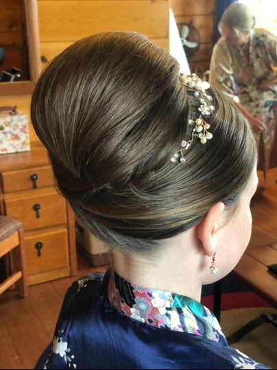 Smooth classy updo