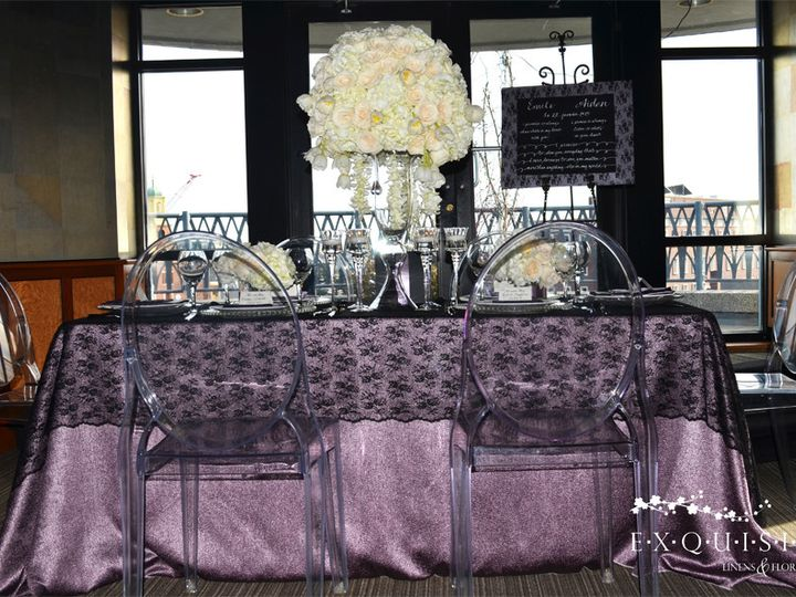 Tmx 1369969011697 Black Overlay And Lilac Linen2 Windham wedding rental