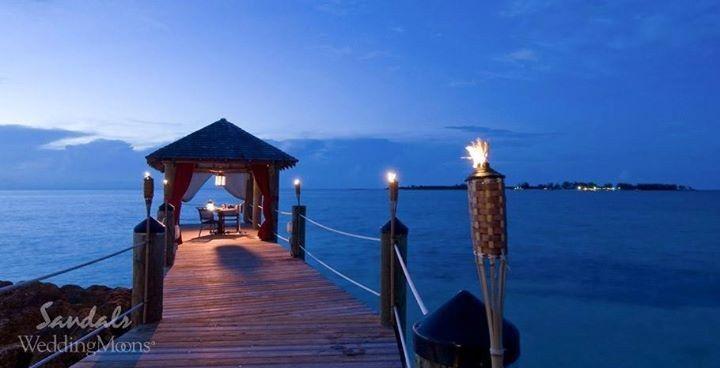 sandals royal bahamian pier romantic