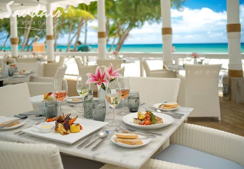 sandals barbados lunch