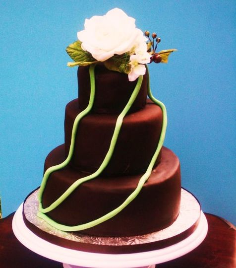 chocolate fondant - austin wedding cake