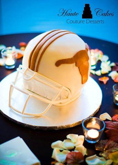 Football Helmet Groom Cake