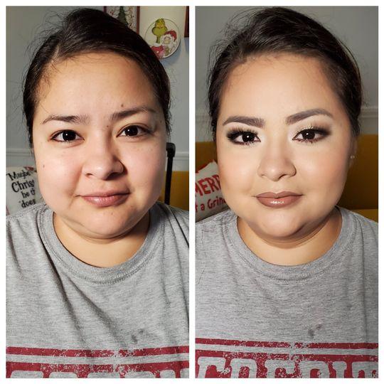 Dramatic winter makeup