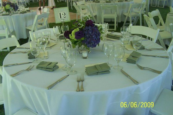 Table setting at Cole Hill Farm