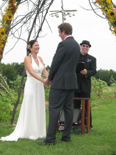 Sharing smiles during the ceremony