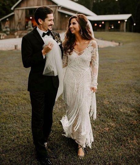 Bohemian inspired fringe wedding
