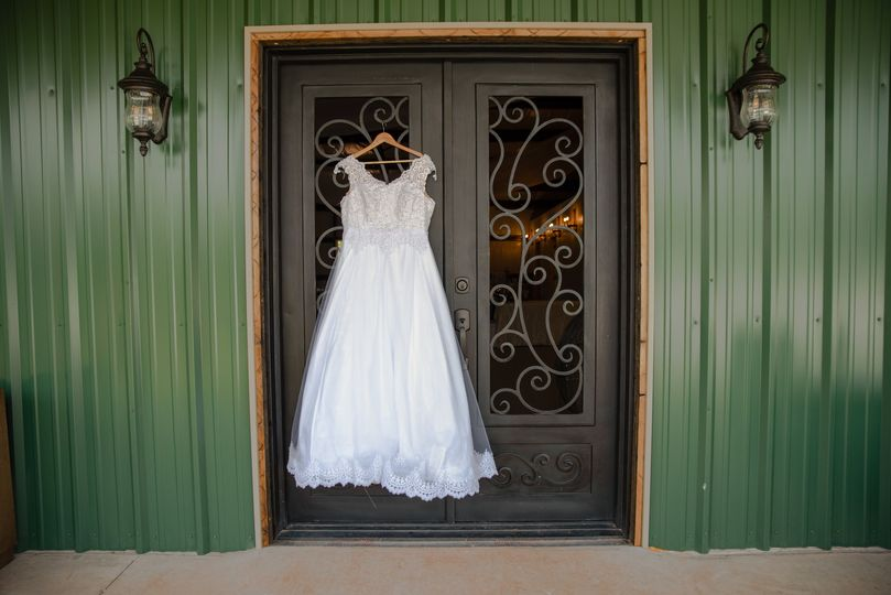 Large wrought iron doors